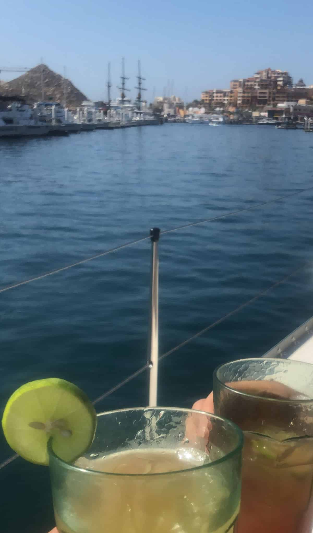 Drinks on boat
