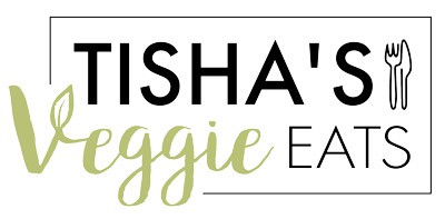 Tishas veggie eats logo in color with icon
