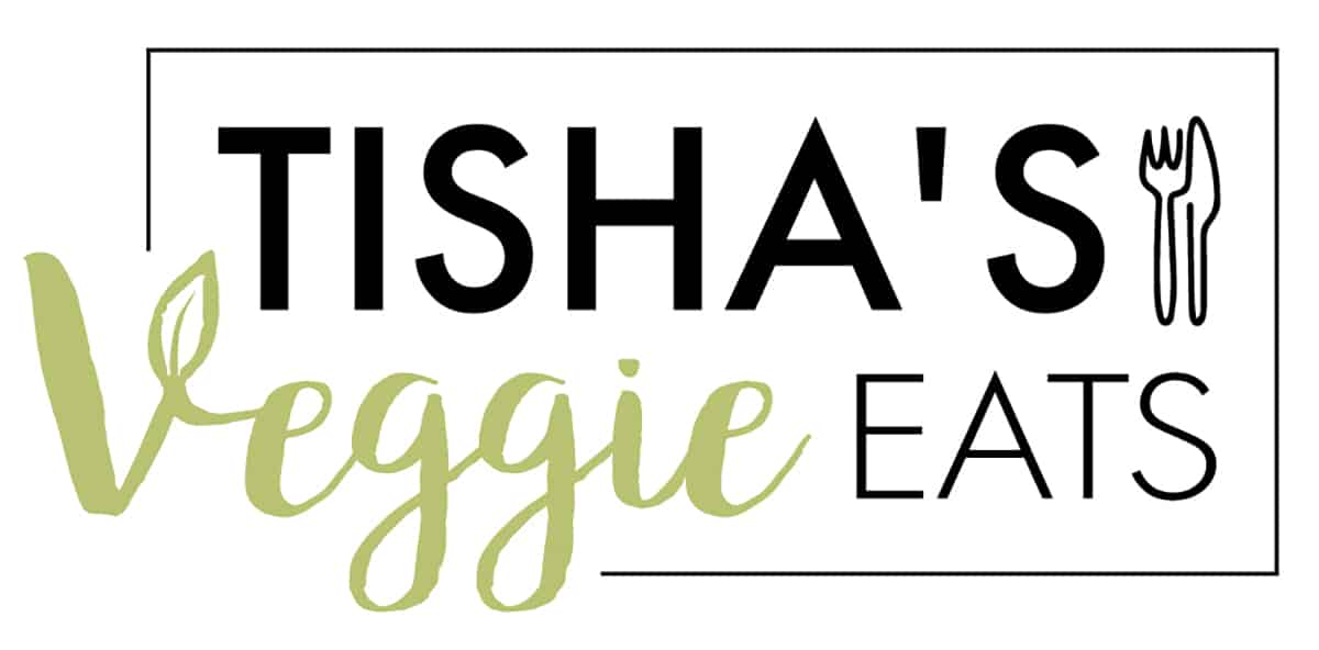 Tishas Veggie Eats logo in color