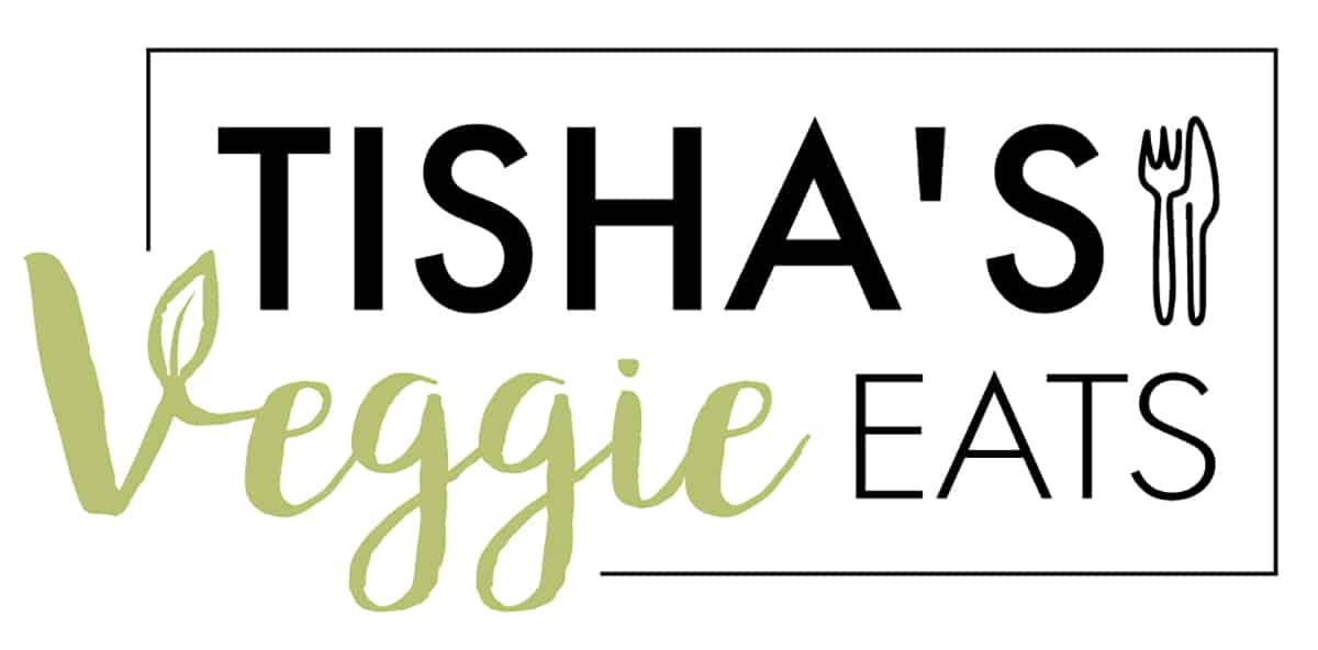 Tishas Veggie Eats logo in color